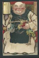Moine Sympathique, Avec Une Chope De  Bière, Radis, Céleris Rave, Légumes, Clefs... - Autres