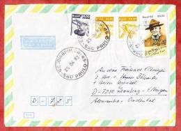 Luftpost, MiF Blockmarke Lord Baden-Powell U.a., Sao Paulo Nach Leonberg 1983 (37123) - Brasilien
