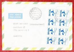 Luftpostbrief, MeF Inlandsfreimarke, Sao Jose Dos Pinhais Nach Leonberg 1989 (37124) - Cartas
