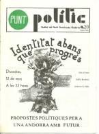 ANDORRA   - PUNT POLITIC BUTLLETÍ DEL PARTIT DOMÒCRATA ANDORRA  FEBRER 1982 - Documentos Históricos