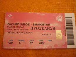 Olympiakos-Shakhtar Football International Friendly Match Ticket - Match Tickets