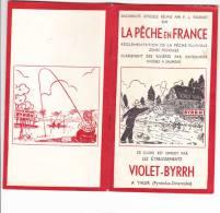 LIVRET LA PECHE EN FRANCE En 1958 - Règlementation De La Pêche Fluviale - Zones Piscicoles Rivières à Saumons - 2 Scans - Unclassified