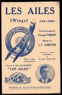 PARTITION - MUSIQUE DE FILM - LES AILES (WINGS) - FOX TROT -  PAROLES : F. VIMONT - MUSIQUE : J.S. ZAMECNIK - - Musique & Instruments