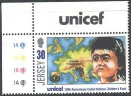 JERSEY - UNICEF - CHILD YUGOSLAVIA + ALBANIA - **MNH - UNICEF