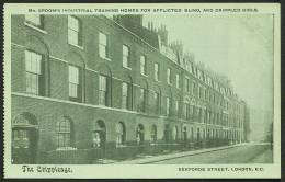 """The Crippleage, Sekforde Street, London"".  Islington C1935. - Red Cross"