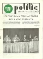 ANDORRA- PUNT POLITIC BULLETÍ DEL PARTIT DEMÒCRATA ANDORRA. - Documentos Históricos