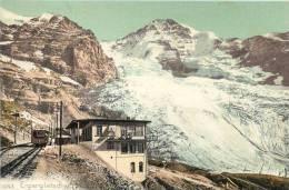 SWITZERLAND - EIGERGLETSCHER - TRAIN AT STATION - VINTAGE ORIGINAL POSTCARD - Suisse