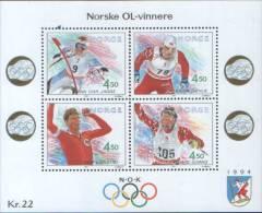 Norvegia Norway Norvegen 1993 Foglietto Olimpiadi Lillehammer 94 Winter Olymphics Games  ** MNH - Nuovi