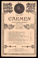 PARTITION - OPERA - CARMEN - BIZET - AVEC LA GARDE MONTANTE - N°1 - Opera