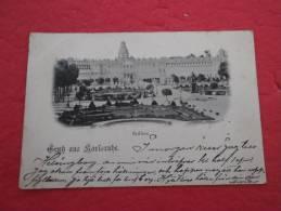 Baden Wuerttemberg , Karlsruhe - Gruss Schloss 1903 To Stockholm - Karlsruhe
