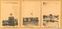 PRESENTE TOBRUK PRESENTE ! 3 FOTOGRAFIAS AÑO 1941 ORIGINALS SACADAS POR SOLDADOS ITALIANOS EN LIBIA - Libië