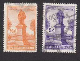 Dominican Republic, Scott #330-331, Used, Monument To Father Francisco Xavier Billini, Issued 1937 - Dominican Republic