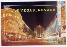 Etats-Unis--LAS VEGAS--Downtown-la Nuit (Golden Nugget,Union Plaza)-- ,cpm N° LV-13  éd 1990 R T S Inc - Las Vegas