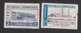 Dominican Republic, Scott #454-455, Used, Treasury Buiding, Sugar Industry, Issued 1953 - Dominican Republic