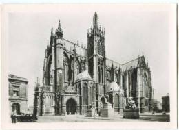 France, METZ, St-Etienne Cathedral, Front On The Arms Place, Mini Photo[12639] - Other