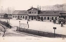 FECAMP - La Gare - Splendide Carte Très Animée - Le Havre