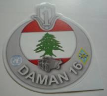 AUTOCOLLANT LIBAN DAMAN 16 - Militaria