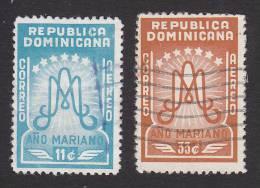Dominican Republic, Scott #C88-C89, Used, Ano Mariano Initials In Monogram, Issued 1954 - Dominican Republic