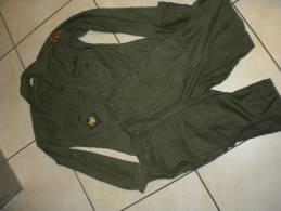 Lot Veste Us +pantalon  Sateen   époque Viet Nam  Original - Uniforms