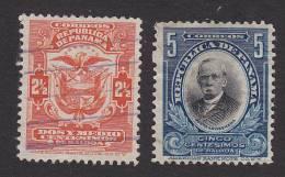 Panama, Scott #199-200, Used, Coat Of Arms And Arosemena, Issued 1909 - Panama