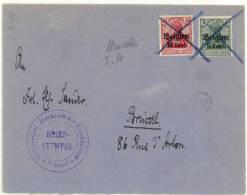 Zegels All.5cts + 10 Cts Geannuleerd. Militur-Gen.Direktion Der Eisenbahnen *Brussel* 3-4-17 - Other Covers