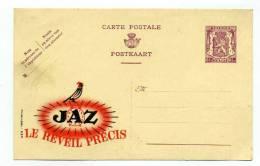 """ENTIER PUBLICITAIRE """" PUBLIBEL""""  De BELGIQUE : """" JAZ LE REVEIL PRECIS """" - Stamped Stationery"""