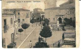 LACEDONIA (AV) - PIAZZA F. DE SANCTIS -  F/P - V: 1912 - Avellino