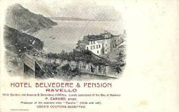 RAVELLO (SA) - HOTEL BELVEDERE & PENSION -  F/P - N/V - Salerno