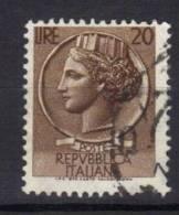 R398 - REPUBBLICA , Il 20 Lire Fil 65° Destra. - 6. 1946-.. Repubblica