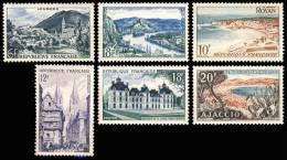 976 à 981  SERIE TOURISTIQUE  1955 - Ongebruikt