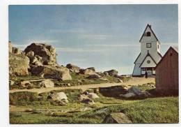 GREENLAND - AK138338 KGH 5 - The Church And The Knud Rasmussn Stone At Nanortalik - Greenland