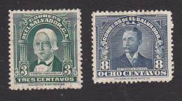 El Salvador, Scott #561, 563, Used, Vasconcelos, Palomo, Issued 1935 - Salvador