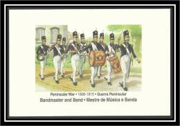 PORTUGAL - PENINSULAR WAR - 1806 / 1815 - GUERRA PENINSULAR - BANDMASTER AND BAND - MESTRE DE MÚSICA E BANDA - Uniforms