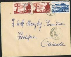1950   Lettre   Pour Le Canada  Yv 334 X 2, 339 - St.Pierre & Miquelon