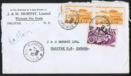 1950   Lettre  Avion  Pour Le Canada  Yv 335, 338 X 2 - St.Pierre & Miquelon