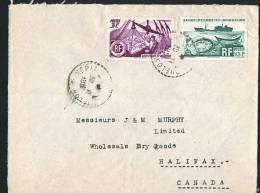 1951  Lettre   Pour Le Canada  Yv 335, 340 - St.Pierre & Miquelon