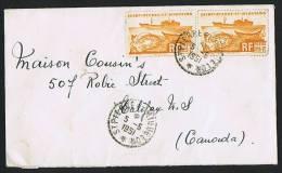 1951 Lettre  Pour Le Canada  Yv 338 X 2 - St.Pierre & Miquelon