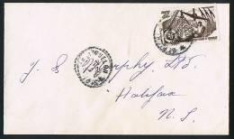 1953 Lettre  Pour Le Canada  Yv 337 Seul - St.Pierre & Miquelon