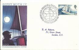 1967 Sir Francis Chichester 1 Stamp Special Postmark On Neatly Addressed First Day Cover FDI London 24 July 1967 - 1952-1971 Em. Prédécimales