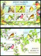 JERSEY 2012 - Birdlife VI: Threatened Birds, M/S + S/S - Passereaux