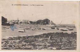 CPA 29 LOCQUIREC Le Port à Marée Basse Bateaux 1930 - Locquirec
