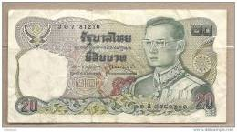 Thailandia - Banconota Circolata Da 20 Baht - Tailandia