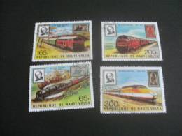 K4222- Set Used Rep. De Haute-Volta -  Sir Rowland Hill - Trains - Treinen