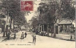 Cpa Caen 14 Calvados Bld Des Allies - Caen