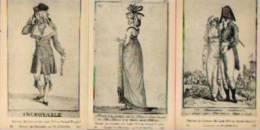 """""""Second Empire"""" - Lot De 3 Illustrations Sur Cartons Forts (format """"carte Postale"""") - Ed. ND, Paris - Habits & Linge D'époque"""
