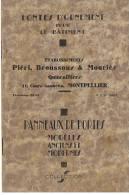 FONTES D'ORNEMENT ETABLISSEMENT BROUSSOU& MOURIES à MONTPELLIER 1931 - Vieux Papiers