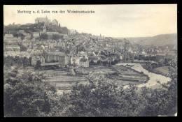 AK 10143 Marburg A.d.Lahn - Blick Von Der Weintrautseiche Auf Marburg Gel.1911 - Marburg