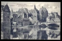 AK 10146 Marburg A.d.Lahn - Lahnpartie Mit Blick Auf Universität Und Schloß Gel.1913 - Marburg