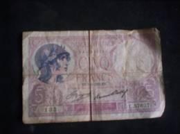 BILLET DE 5  FRANCS DE 7 9 1933 - 1871-1952 Antiguos Francos Circulantes En El XX Siglo