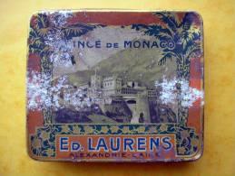 Ancienne Boite A Cigarettes PRINCE DE MONACO  ED. LAURENS AEXANDRIE - CAIRE Egypte - Empty Cigarettes Boxes